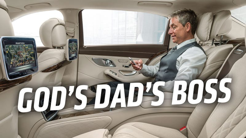 Illustration for article titled The Mercedes-Maybach Is The Car God's Dad's Boss Would Ride In