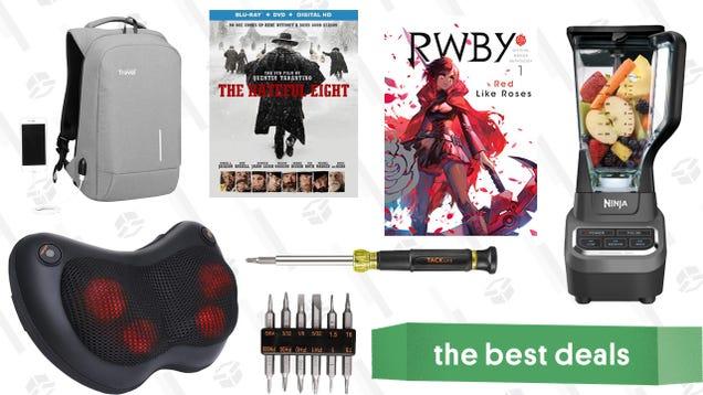 Saturday s Best Deals: The Hateful Eight, Refurbished Ninja Blenders, Shiatsu Massage Pillows, and More