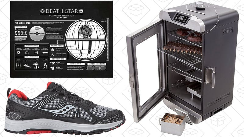 Illustration for article titled Today's Best Deals: Saucony Shoes, Electric Smoker, Star Wars Prints, and More
