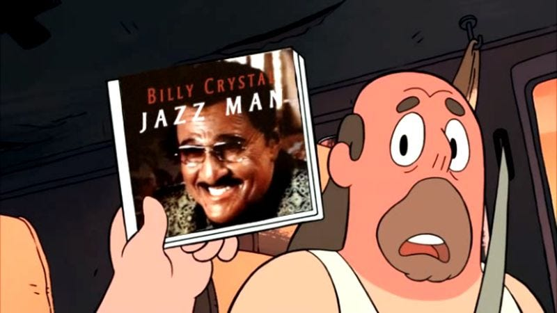 "Illustration for article titled Tom Scharpling destroys Billy Crystal's cluelessly racist ""old jazzman"" routine"
