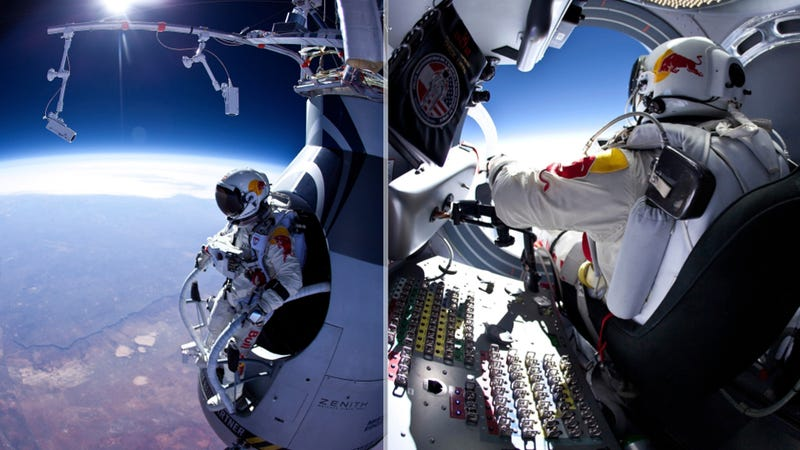 Illustration for article titled This Is What It Looks Like To Jump From 13.6 Miles Above Earth