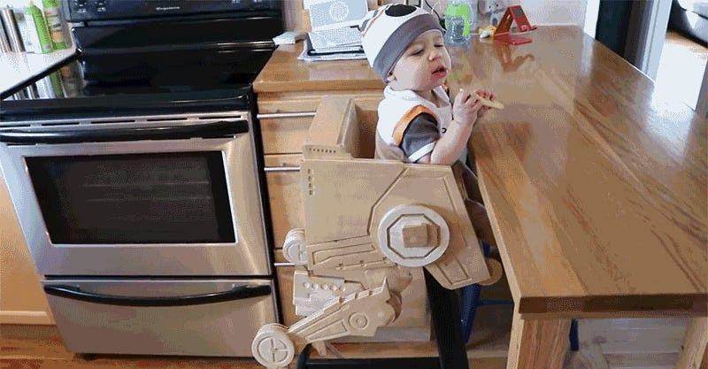 I Hope This Kid Appreciates How Awesome His Custom Made Star Wars AT ST  High Chair Is