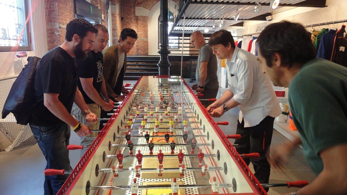 Person Table Solidifies Foosball As Sport - Wilson foosball table