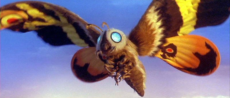 Illustration for article titled Mothra is Coming to America: How Weird is That?!