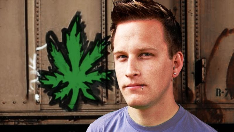 Illustration for article titled Graffiti Artist Completes Masterwork 'Still Life Of Marijuana Leaf'