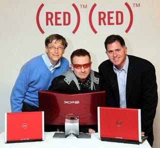 Illustration for article titled Friday Caption Contest: Bill Gates, Bono and Michael Dell Walk into a Bar