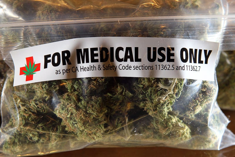 A 1-ounce bag of medicinal marijuana on display at the Berkeley Patients Group in Berkeley, Calif., on March 25, 2010Justin Sullivan/Getty Images