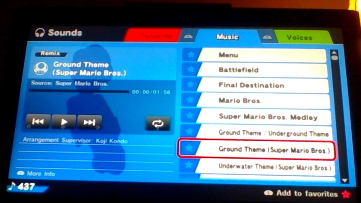 Smash Bros  for Wii U's Soundtrack has 437 Songs