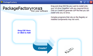 Illustration for article titled PackageFactory Converts any Windows Program to Run on a U3 Drive