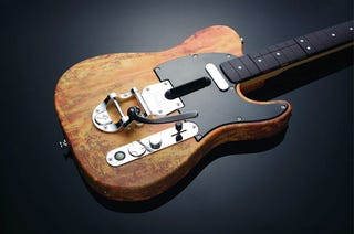 Illustration for article titled Mad Catz Rock Band Telecaster Is Distressed, And That Is a Very Good Thing