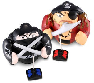 Illustration for article titled Sleek R/C Ninja and Swarthy Pirate Fight it Out In Your Own Home