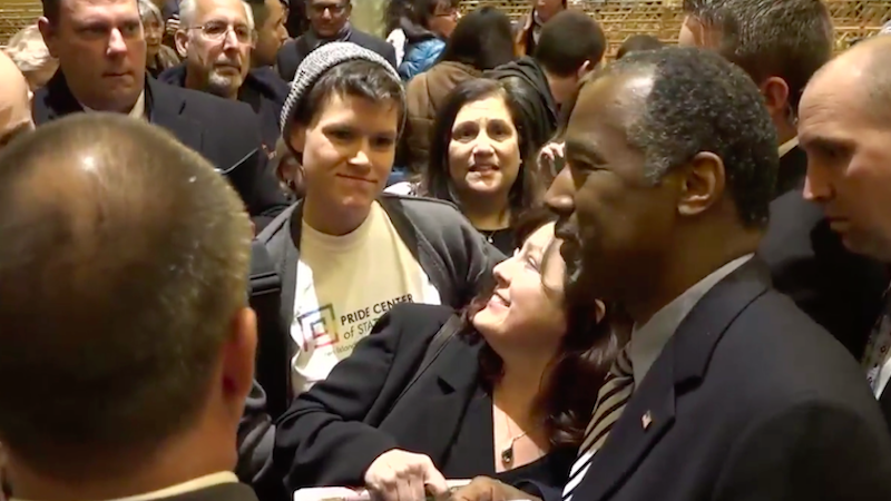 Illustration for article titled NYC Town Hall Attendee Asks Ben Carson 'Do You Think I Chose to Be Gay?'
