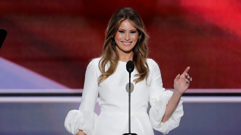 Illustration for article titled Melania Trump's Plagiarized Speech Was a Study in the Trump Campaign's Lazy Mediocrity
