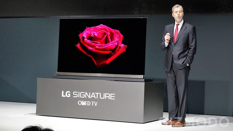 Illustration for article titled LG's New 4K OLED TVs Are Just Four Credit Cards Thick