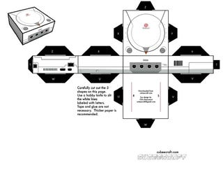 Illustration for article titled Dreamcast, NES Ported to Papercraft