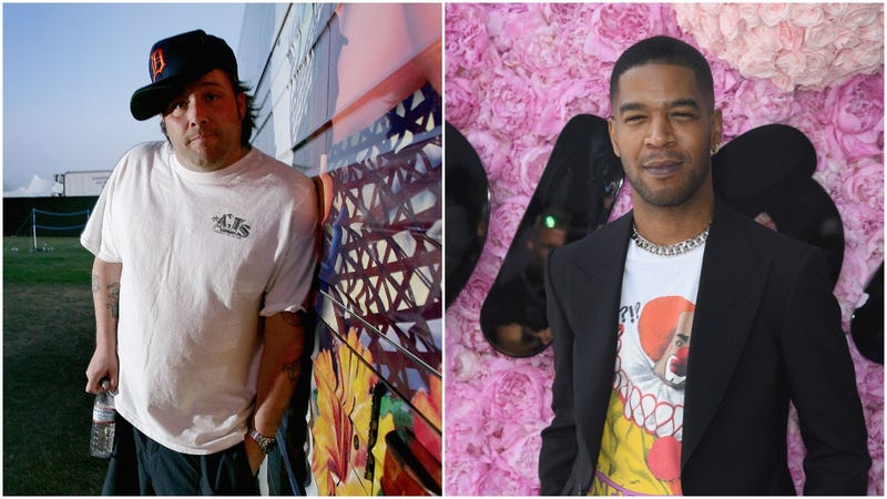 Uncle Kracker and Kid Cudi, both making the exact face one should make when someone confuses the two.