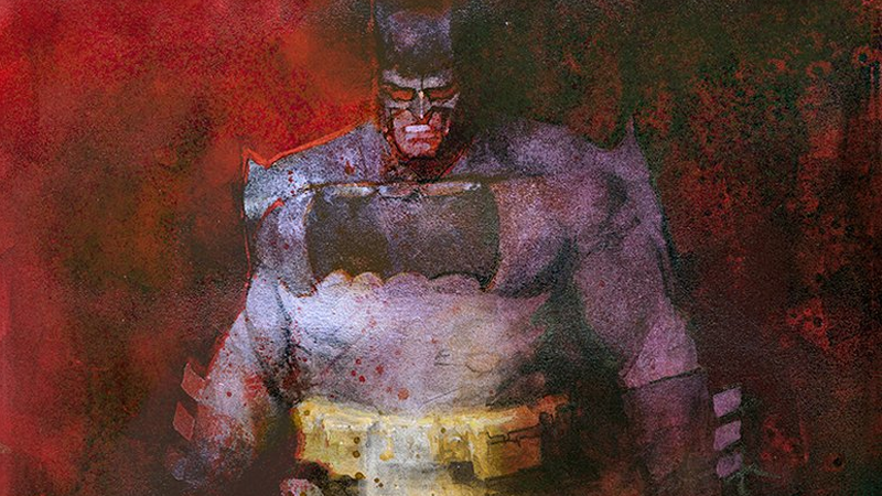 Illustration for article titled Some Asshole Stole This Gorgeous Piece of Batman Art Before It Reached Its New Owner