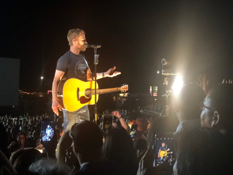 After I snapped this quick my wife and I put away our phones away and danced together while Dierks played Say You Do.  Between verses he pointed through all the other phones right at us and nodded.  It was awesome.