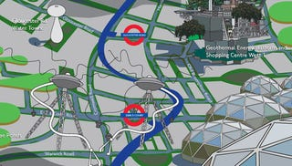Illustration for article titled A 2050 Tourist Map Of The Picadilly Line In London