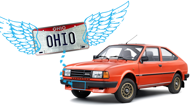 Illustration for article titled You Will Soon No Longer Need a Front License Plate in Ohio for the First Time in Decades