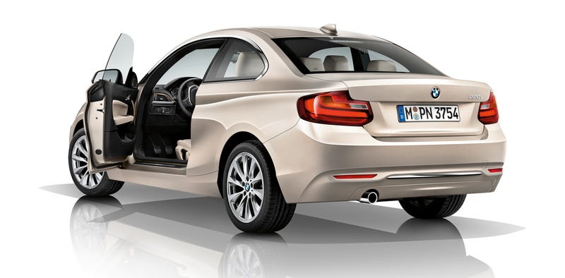 Illustration for article titled The BMW 2-Series Becomes A RWD Mini Cooper With Three-Cylinder Engine