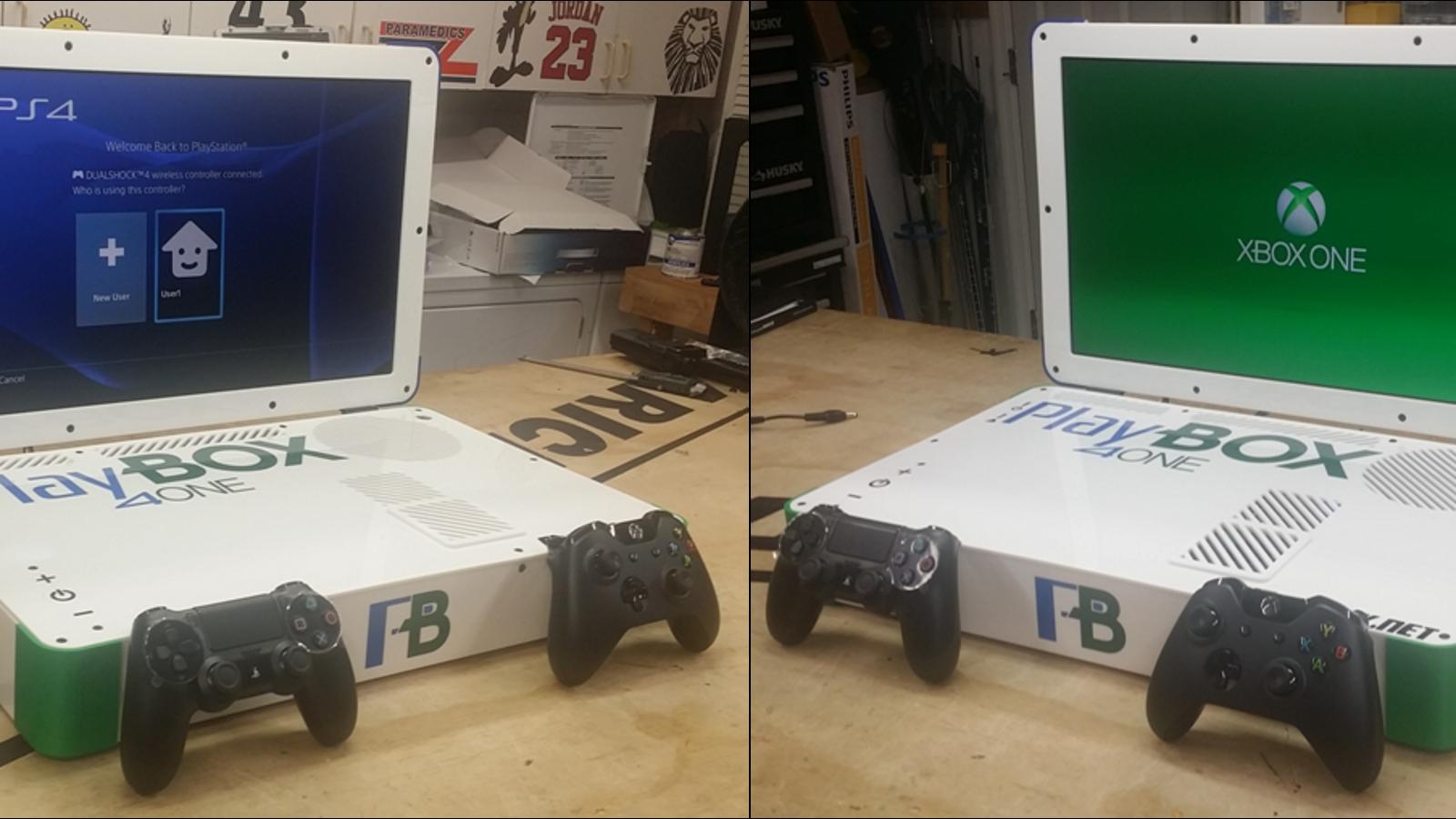 Un modder une la PS4 y Xbox One en un solo portátil. Y funciona