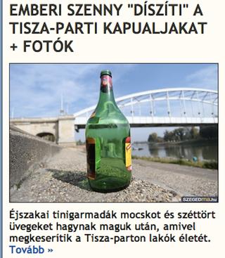 Illustration for article titled A nap szava a tinigarmada, miattuk lett alkoholtilalom Szegeden