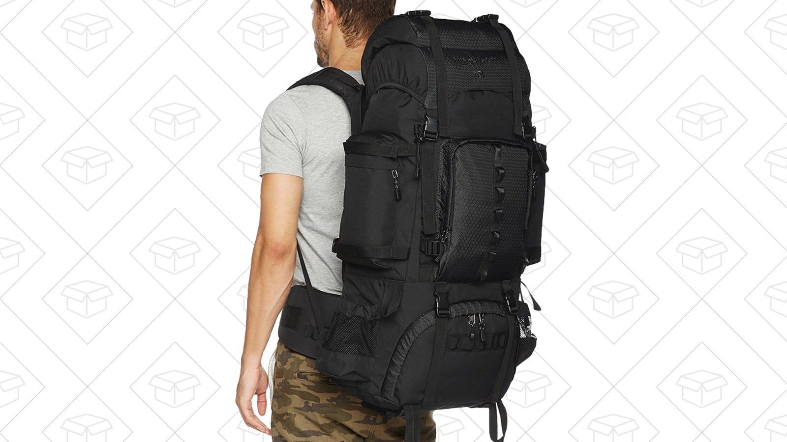 ae3b1084d4 Amazonbasics Internal Frame Hiking Backpack With Rainfly