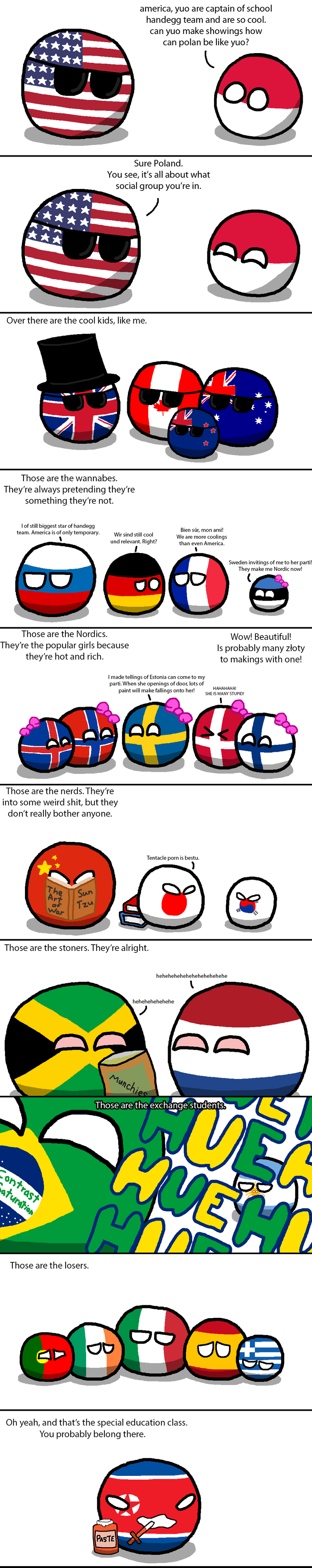 Illustration for article titled Daily Polandball: School Cliques