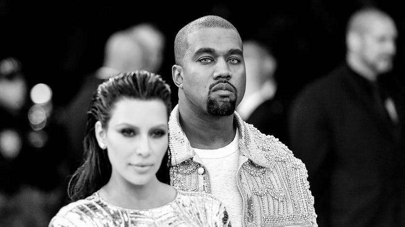 Kim Kardashian West and Kayne West attend the Manus x Machina: Fashion in an Age of Technology Costume Institute Gala at the Metropolitan Museum of Art on May 2, 2016, in New York City.