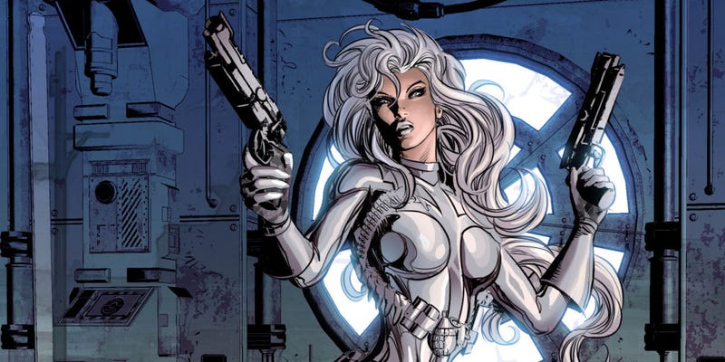 Silver Sable will co-lead a new movie with Black Cat. Image: Marvel Comics