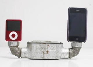 Illustration for article titled This Rusty Double iPod Dock Will Match Your Basement Pipes Perfectly