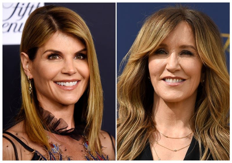 Lori Loughlin, left, and actress Felicity Huffman (r) are among at least 40 people indicted in a sweeping college admissions bribery scandal. Both were charged with conspiracy to commit mail fraud and wire fraud in indictments unsealed Tuesday in federal court in Boston.