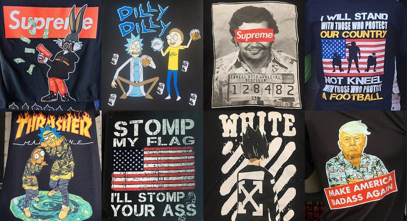 A selection of Wildwood boardwalk t-shirts this year.