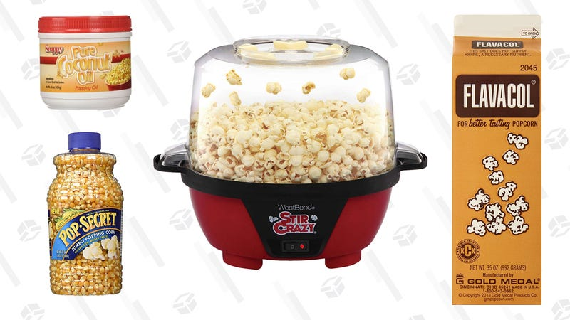 Illustration for article titled The Gear You Need to Recreate Movie Theater Popcorn at Home