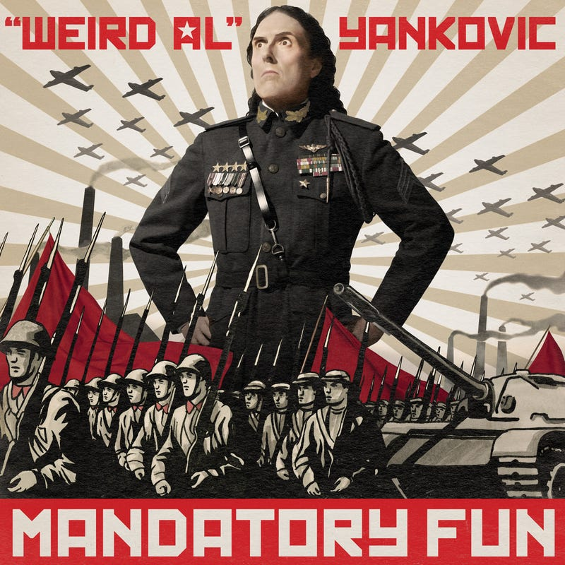 Illustration for article titled What Is Weird Al Wearing In This Mandatory Fun Album Art?
