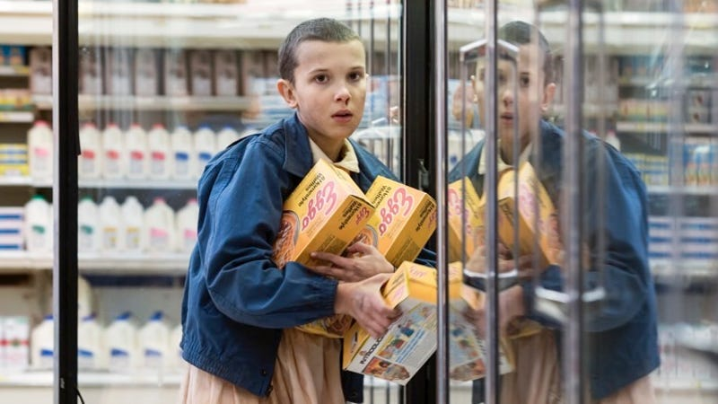 eleven and her eggos