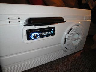 Make A Beach Stereo Out Of A Cooler - How to make car cooler
