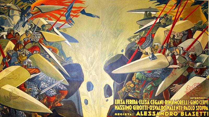 Detail from an original poster for The Iron Crown. (Photo: IMDB)