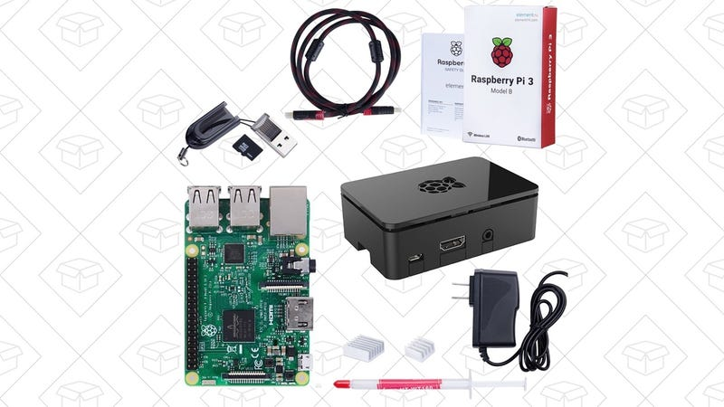 Raspberry Pi 3 Model B Starter Kit, $60 with code VHAC2JD2