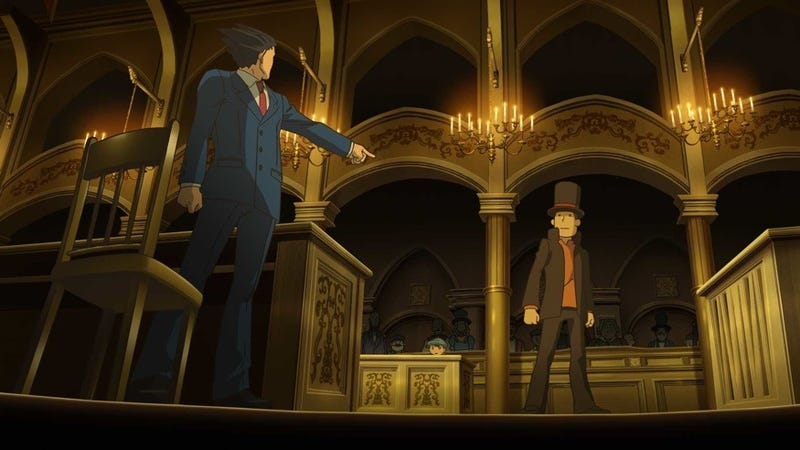 Illustration for article titled Here's What You Get For Beating Professor Layton vs. Ace Attorney