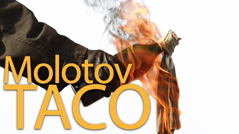 Illustration for article titled A Man Threw a Molotov Cocktail at a Taco Bell Because His Chalupa Didn't Have Enough Meat