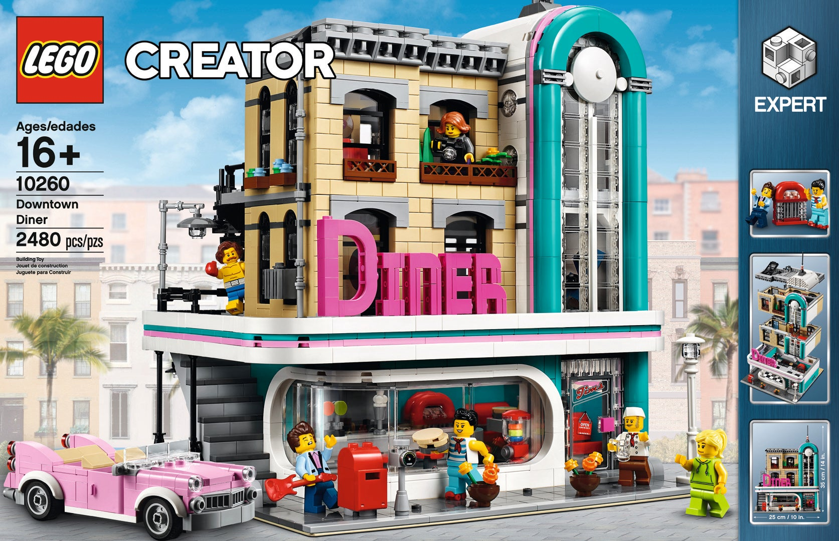 '50s Downtown Diner Brings Cities Set To New Flair Lego oxWCBerEQd