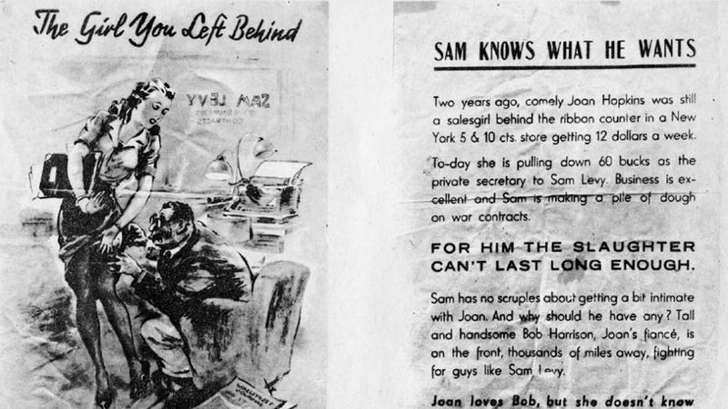 Illustration for article titled These Nazi Propaganda Leaflets Dropped on American Soldiers Are Nauseating