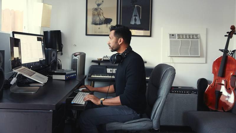 Hirway in his studio