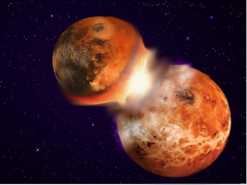 Illustration for article titled Our Moon's Composition Suggests The Earth Used To Have A Twin