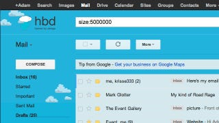 Illustration for article titled Find the Large Attachments Eating Up Your Gmail Space with a Simple Search