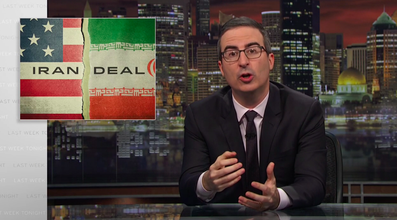 Illustration for article titled John Oliver reminds us that May 12 is the next chance for Donald Trump to truly murder everyone