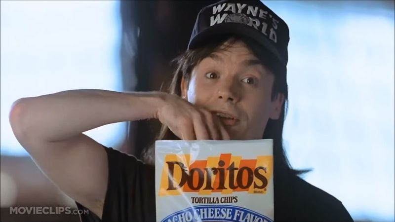 Illustration for article titled This Tumblr preserves those precious shots of old Doritos bags in movies