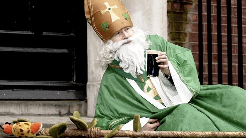 Illustration for article titled Stop Celebrating St. Patrick Because He Was Probably an Asshole